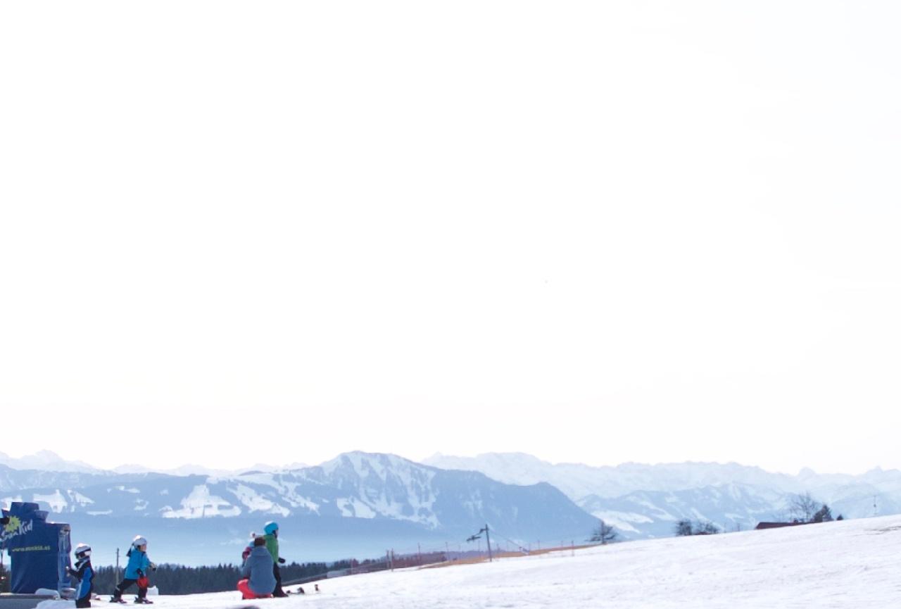 Aussicht auf die Alpen.